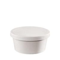 16 oz. Food Squat Container & Paper Lid Combo