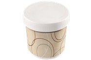 Champagne 16 oz. Paper Food Container Combo Pack with Paper Lid