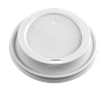 10/12/16/20/24 Dome/White Polypropylene Lid