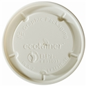 6/8/10/16 oz. ecotainer® Hot/Flat/Navajo White Paper Food Container Lid