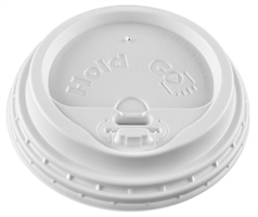 12/16/20/24 Hold & Go® 4-in-1 Lock-Back Dome/White Paper Hot Cup Lid