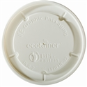 16/32 oz. ecotainer® Hot/Flat/Navajo White Paper Food Container Lid
