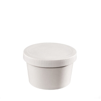 8 oz. Food Container and Paper Lid Combo