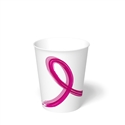 12 oz. Pink Ribbon Paper Hot Cup