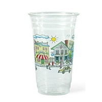 20 oz. Springtime on Main Street Plastic Cold Cup