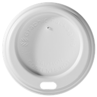 4 oz. Dome/White Paper Hot Cup Lid