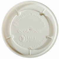 12 oz. ecotainer® Hot/Flat/Navajo White Paper Food Container Lid