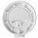 12 oz. Lock-Back/White Paper Vending Hot Cup Lid