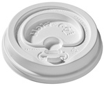 12/16/20 oz. Hold & Go® Lock-Back Dome/White Paper Hot Cup Lid