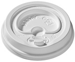 24 oz. Hold & Go® Lock-Back Dome/White Paper Hot Cup Lid