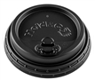 12/16/20/24 Hold & Go® 4-in-1 Lock-Back Dome/Black Paper Hot Cup Lid