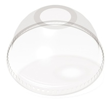 12-24 oz. Dome Clear with Hole
